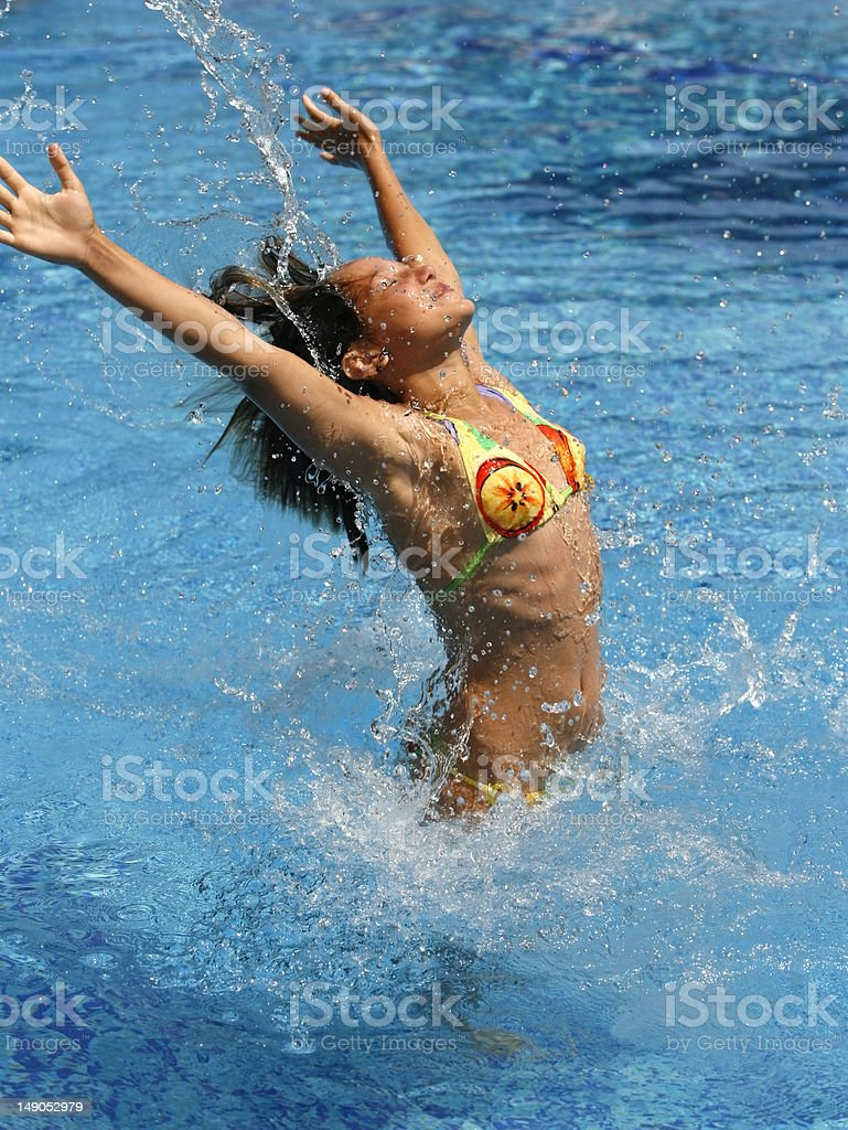 girl jumps royalty-free stock photo