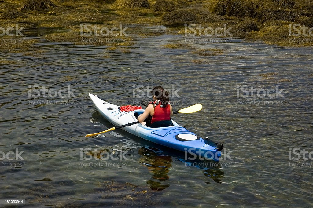 Girl kayaking royalty-free stock photo