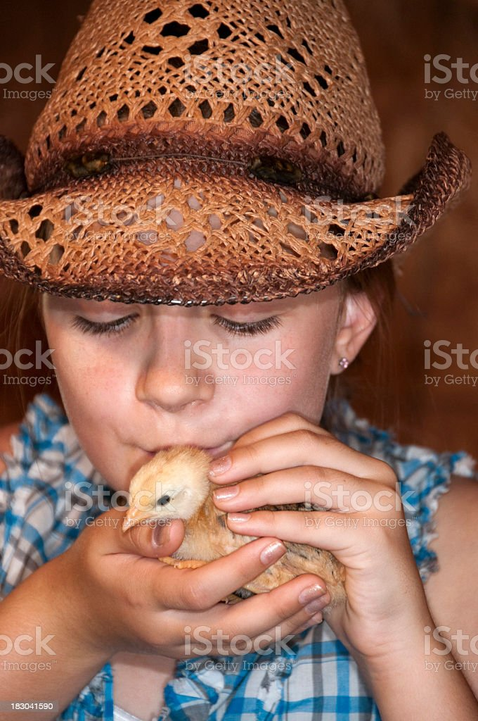 girl kissing chick royalty-free stock photo