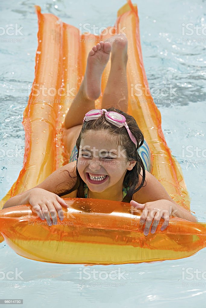 Girl Laughing Having Fun stock photo