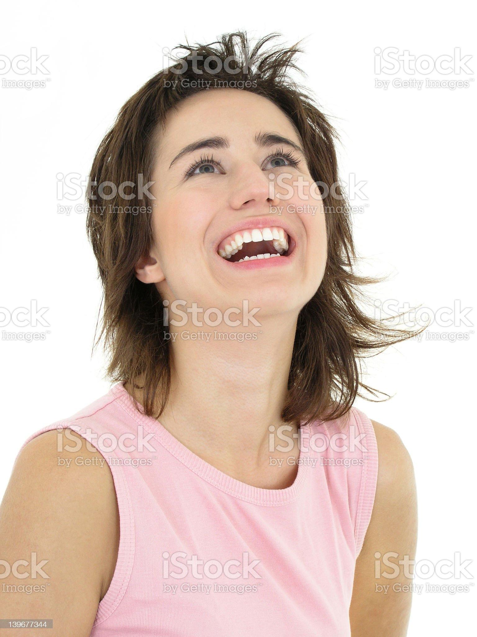 Girl laughing royalty-free stock photo