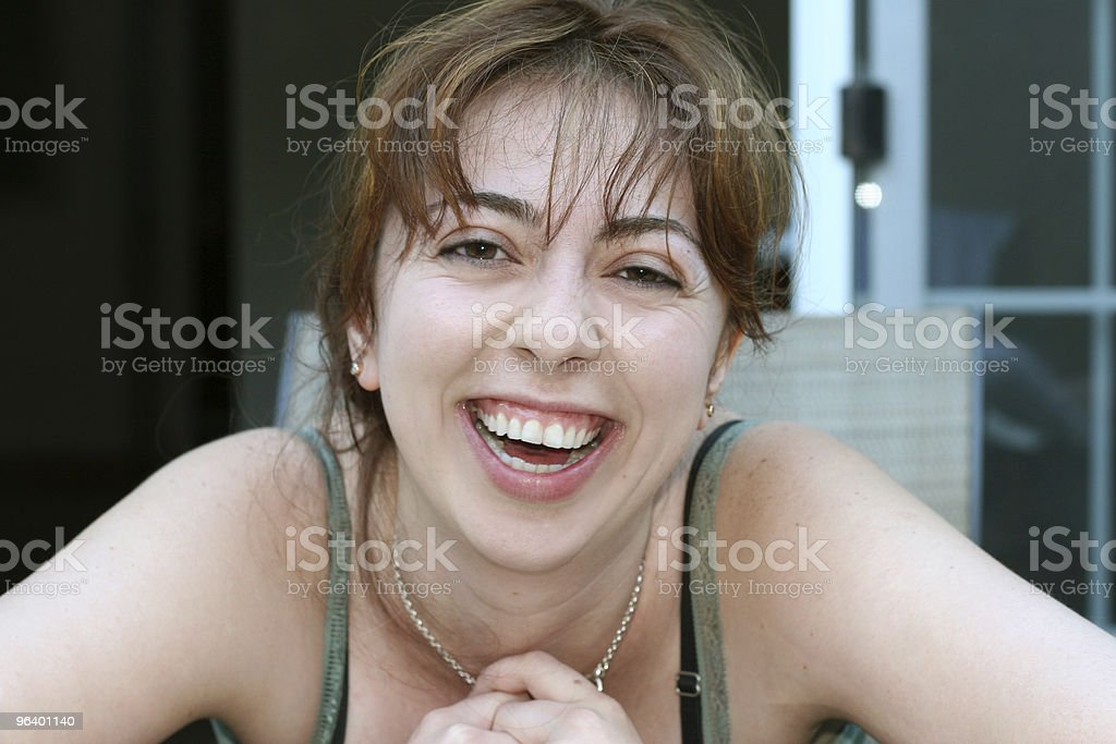 Girl laughing royalty-free stock photo