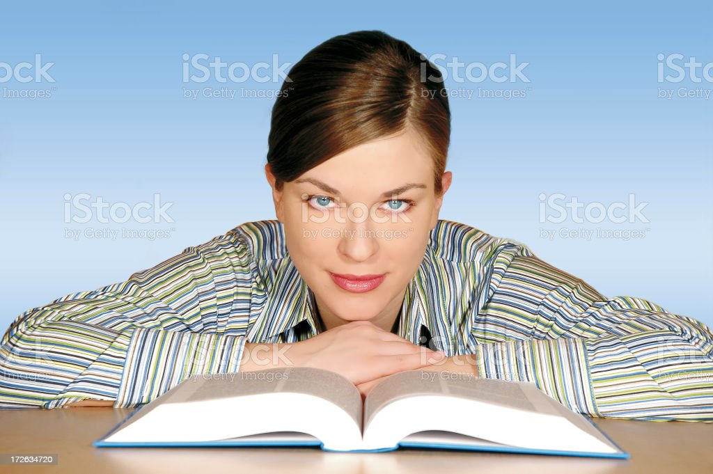Girl learning royalty-free stock photo
