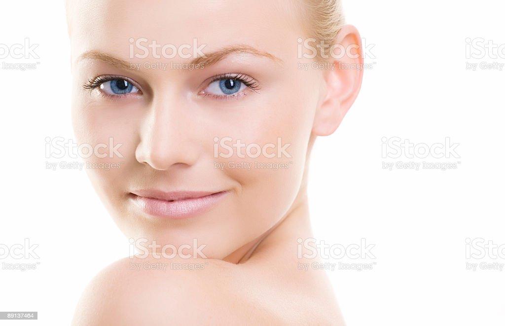 Girl looking at camera royalty-free stock photo