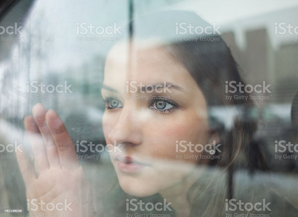 Girl Looking into the Distance royalty-free stock photo