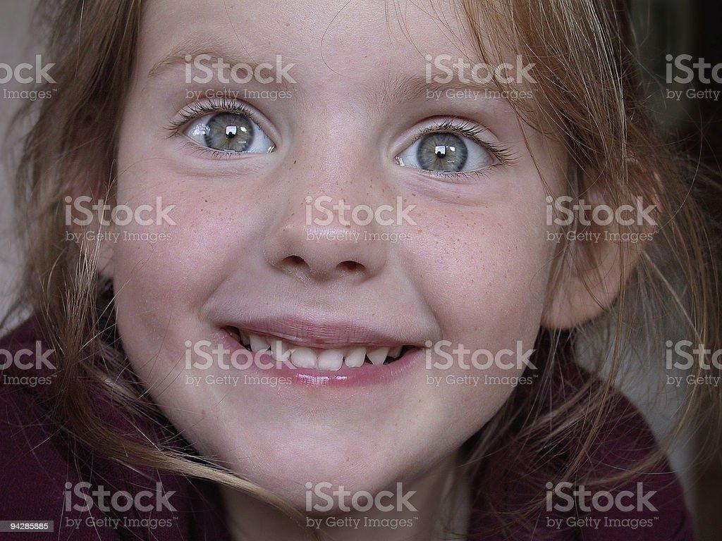 Girl looking with astonishment stock photo