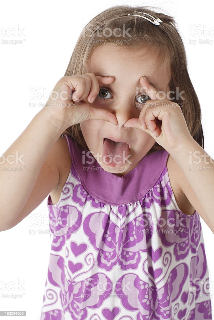 Girl Making a Face stock photo
