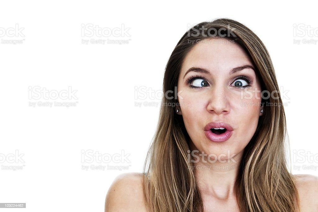Girl making a silly face royalty-free stock photo