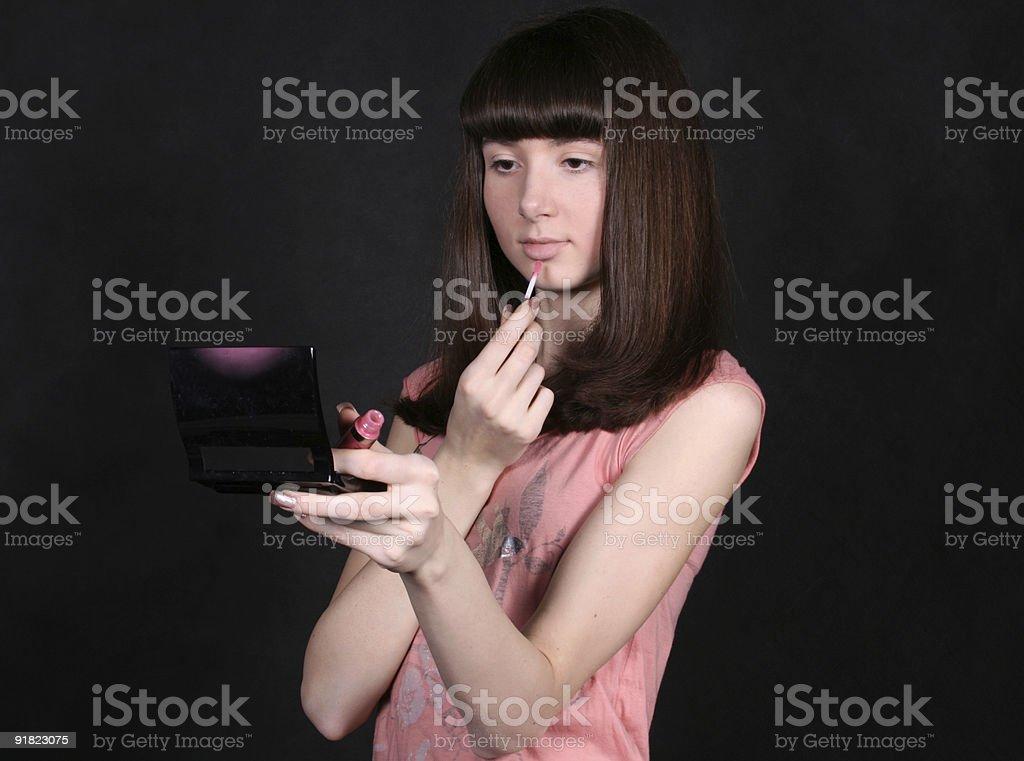 girl making up royalty-free stock photo