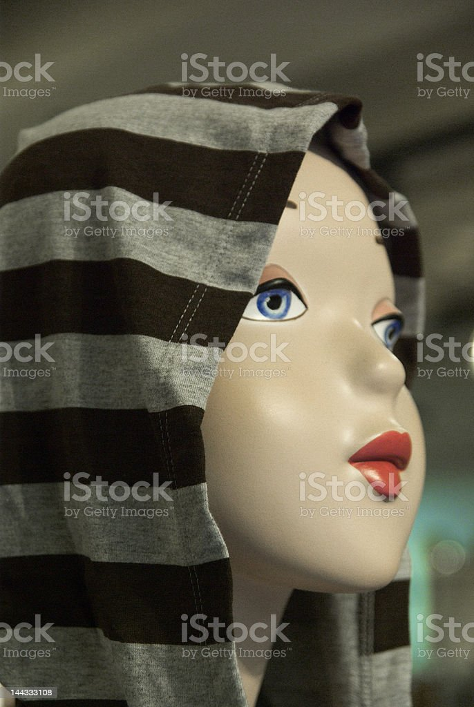 Girl mannequin royalty-free stock photo