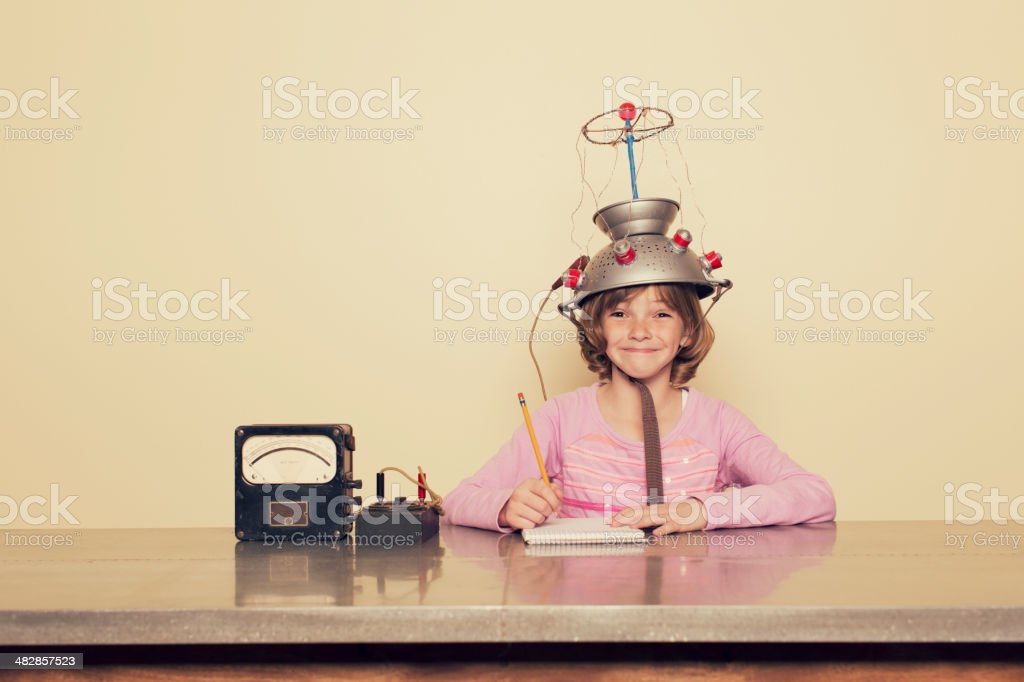 Girl Mind stock photo