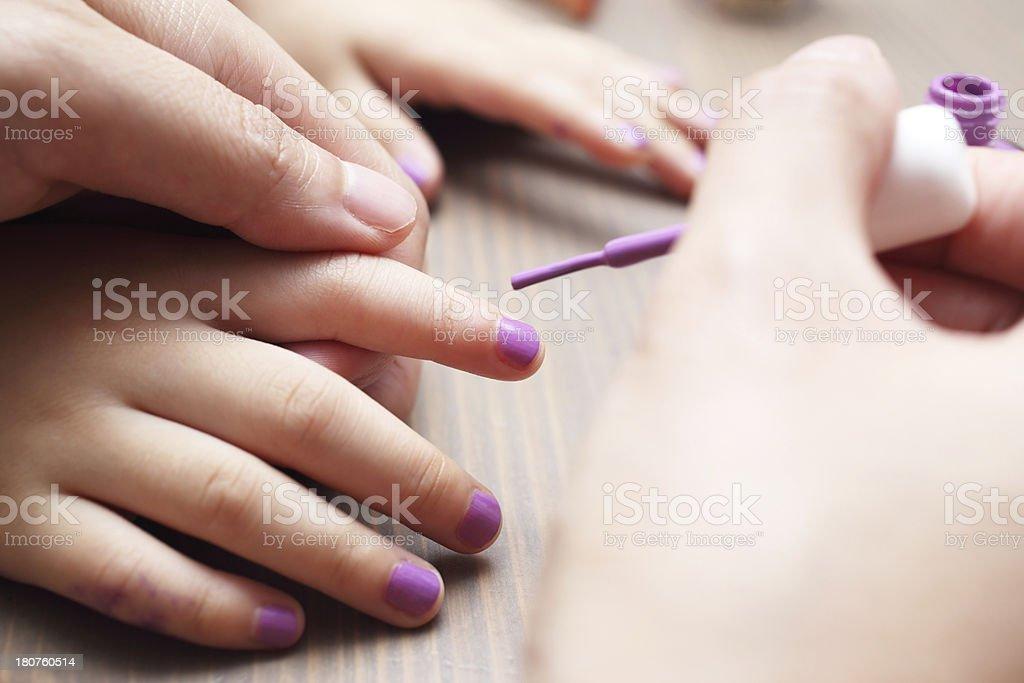 Girl Nail Polish stock photo