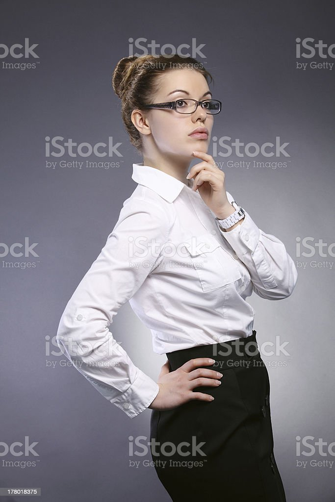 Mädchen Büroberuf Lizenzfreies stock-foto