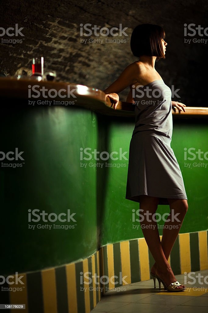 girl on a bar royalty-free stock photo