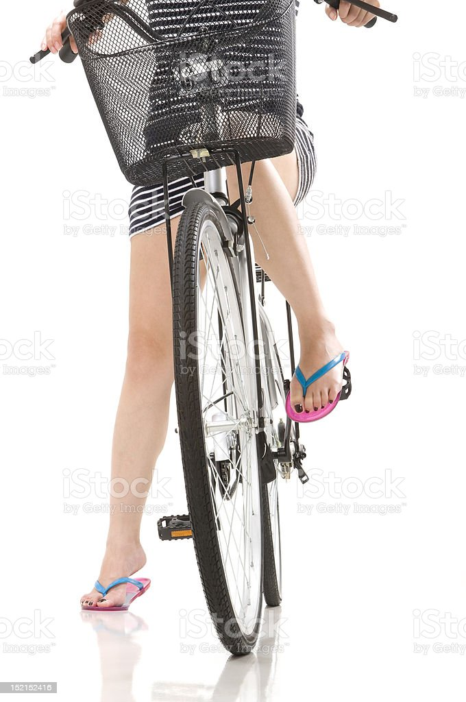 Girl on a Bike stock photo