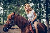 Girl on a stallion