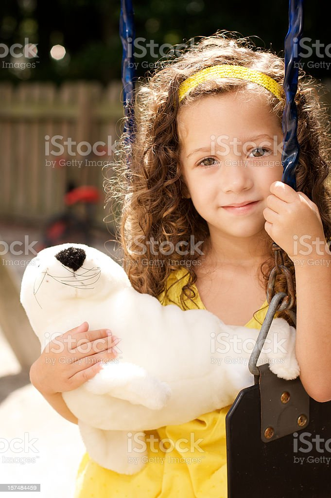 girl on a swing royalty-free stock photo