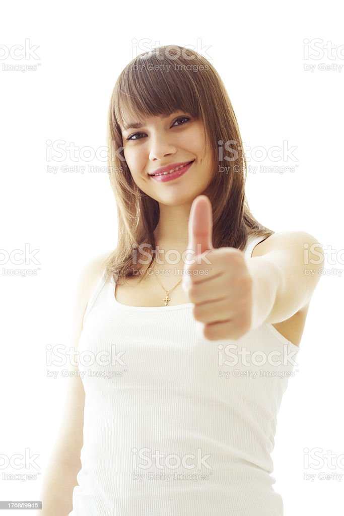 Girl on a white background royalty-free stock photo