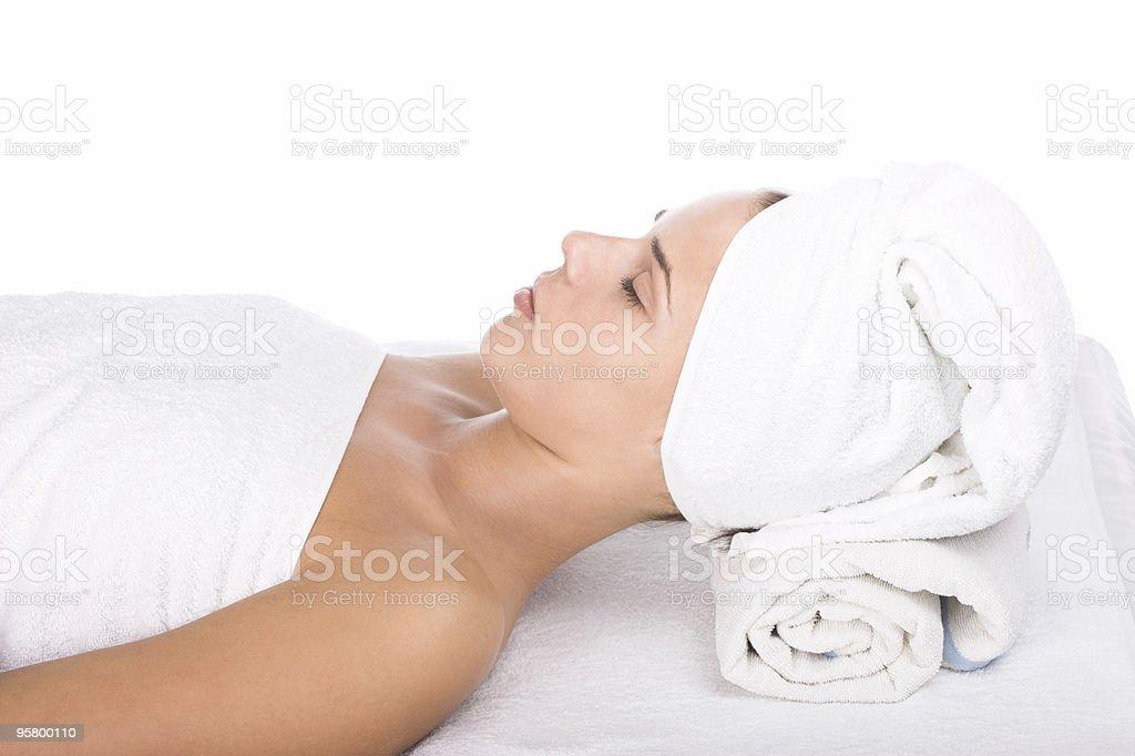 Girl on beauty treatment royalty-free stock photo
