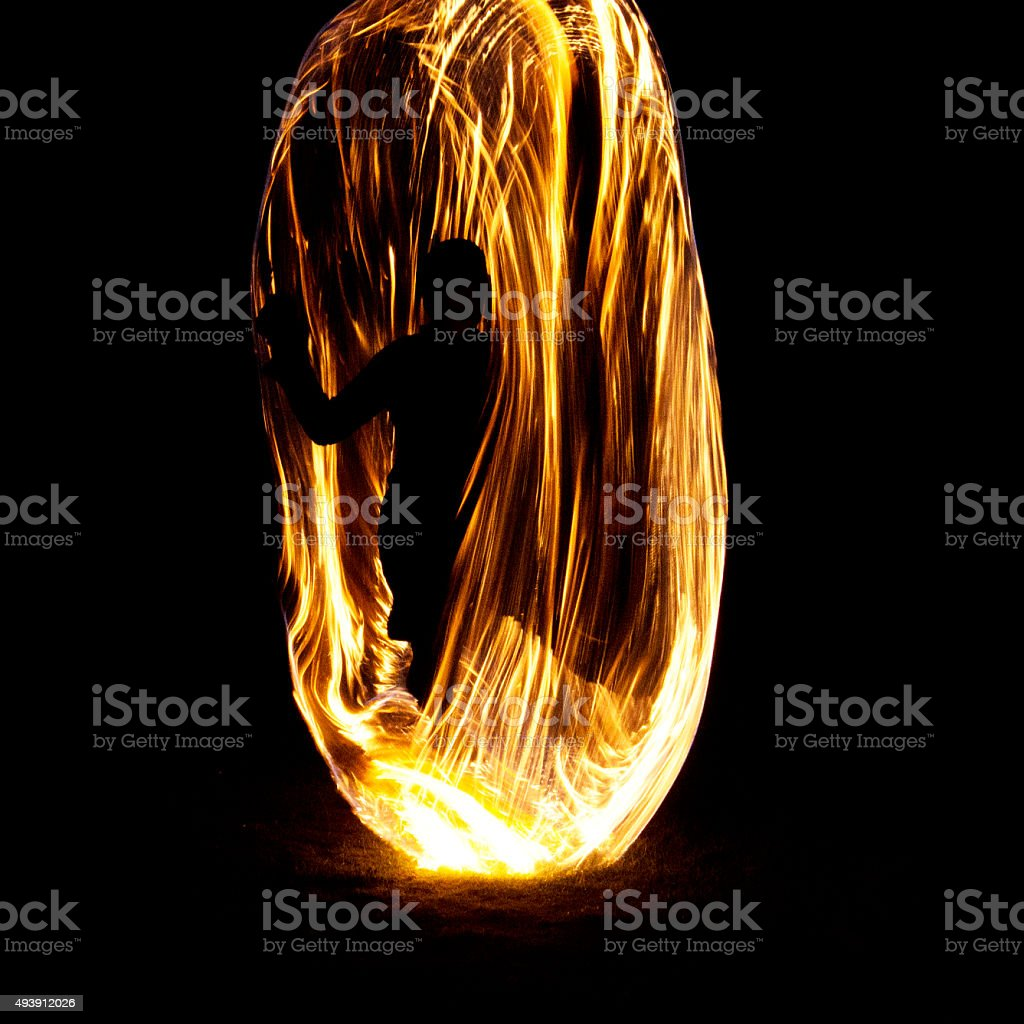 Girl on Fire! stock photo