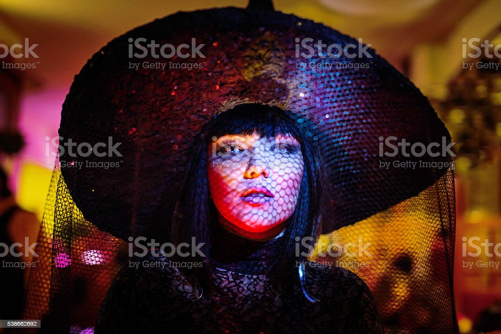 Girl on Halloween stock photo