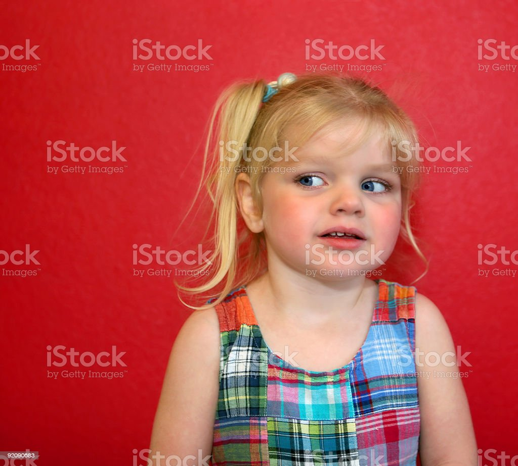 Girl on Red royalty-free stock photo