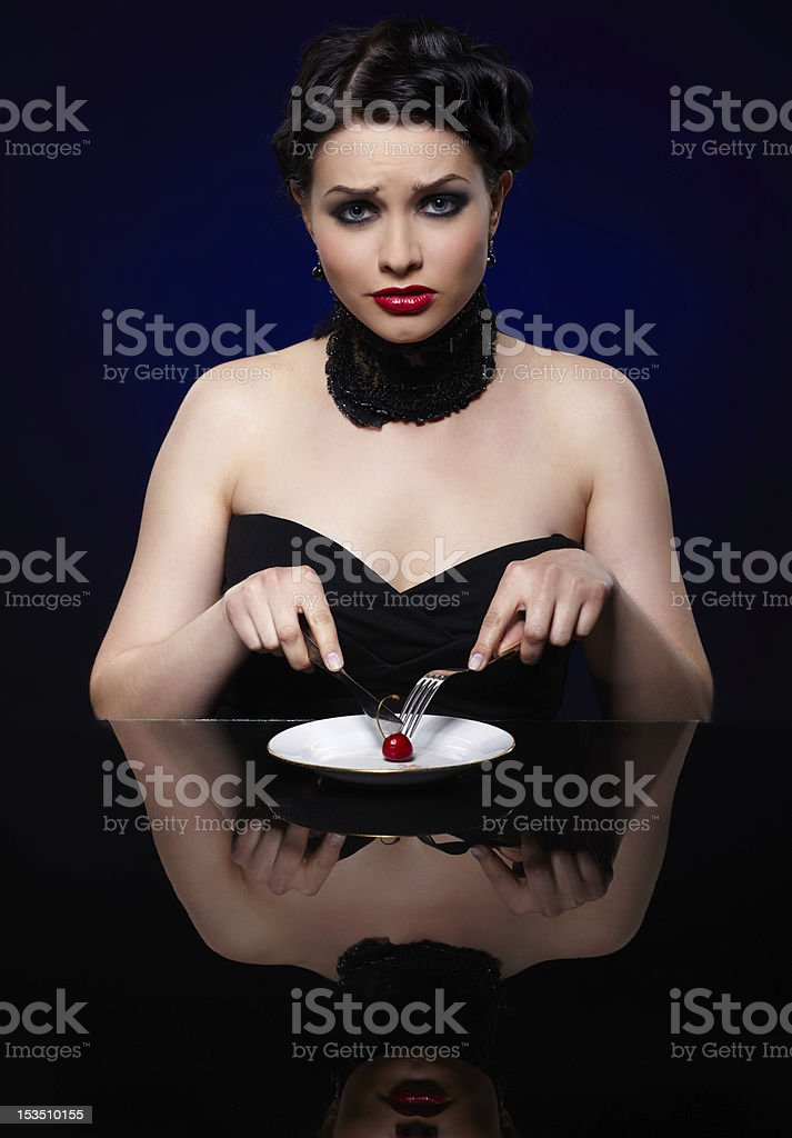 girl on reducing diet royalty-free stock photo