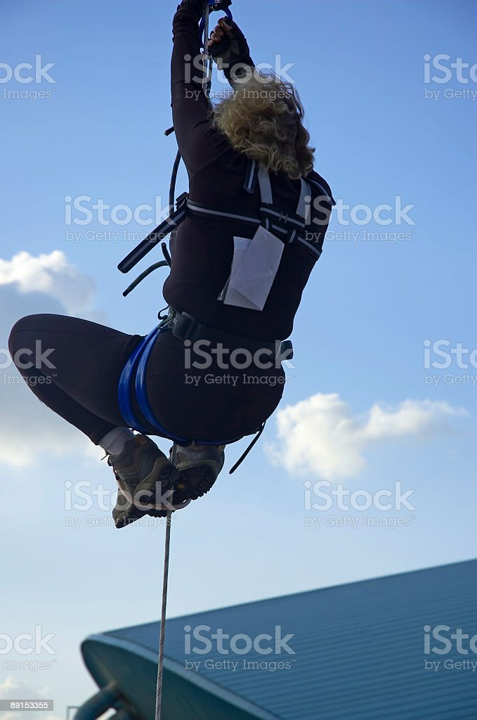 girl on rope royalty-free stock photo