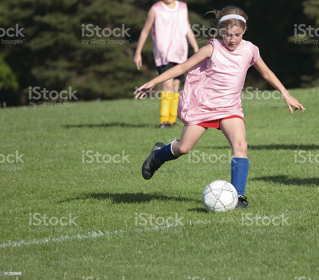 Girl on Soccer Field 22 royalty-free stock photo