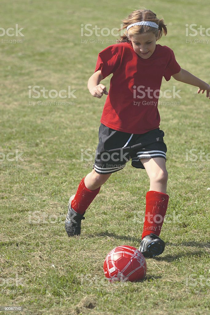 Girl on Soccer Field 33 royalty-free stock photo