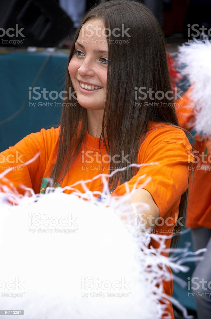 girl on the show stock photo