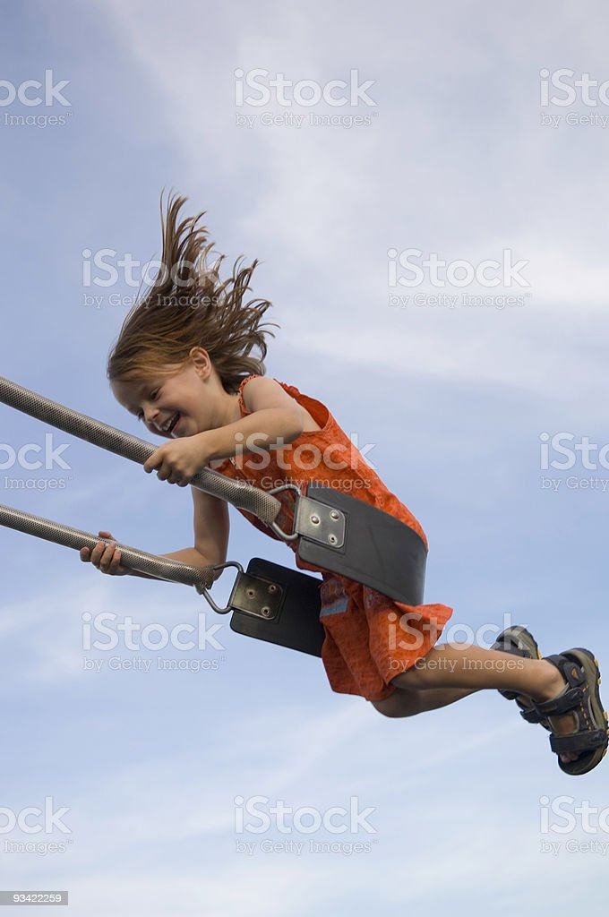 Girl on the Swing royalty-free stock photo