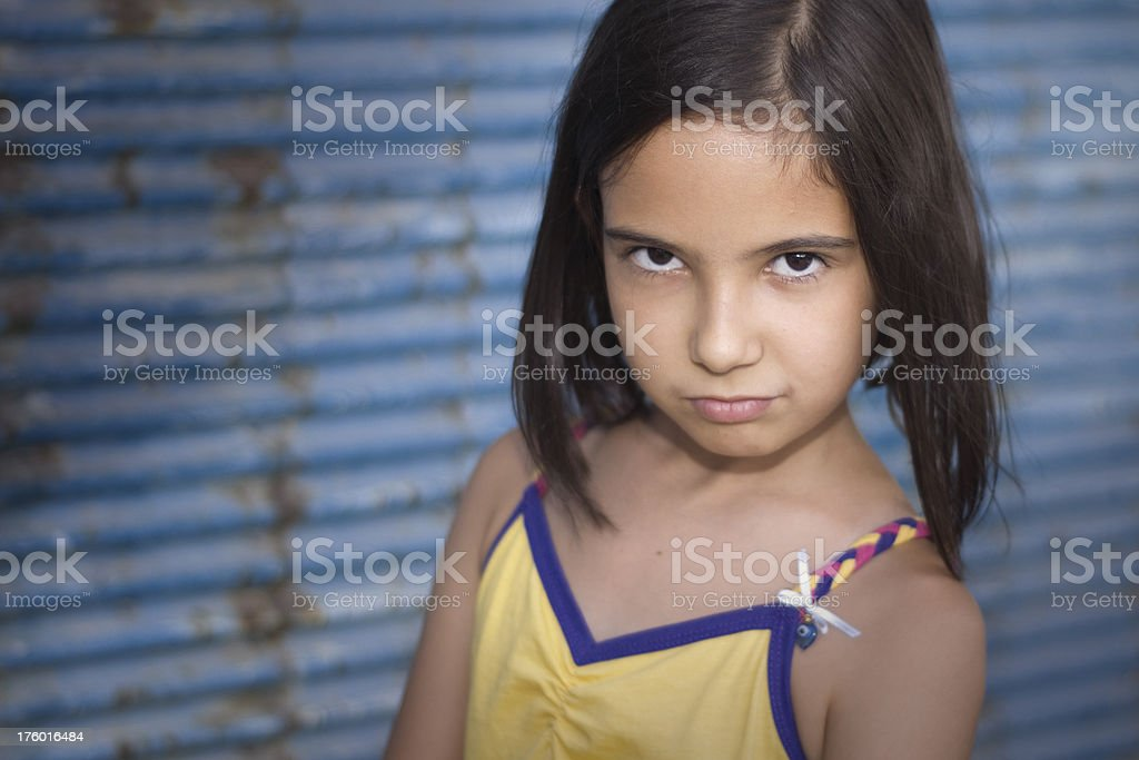 girl on the wall royalty-free stock photo