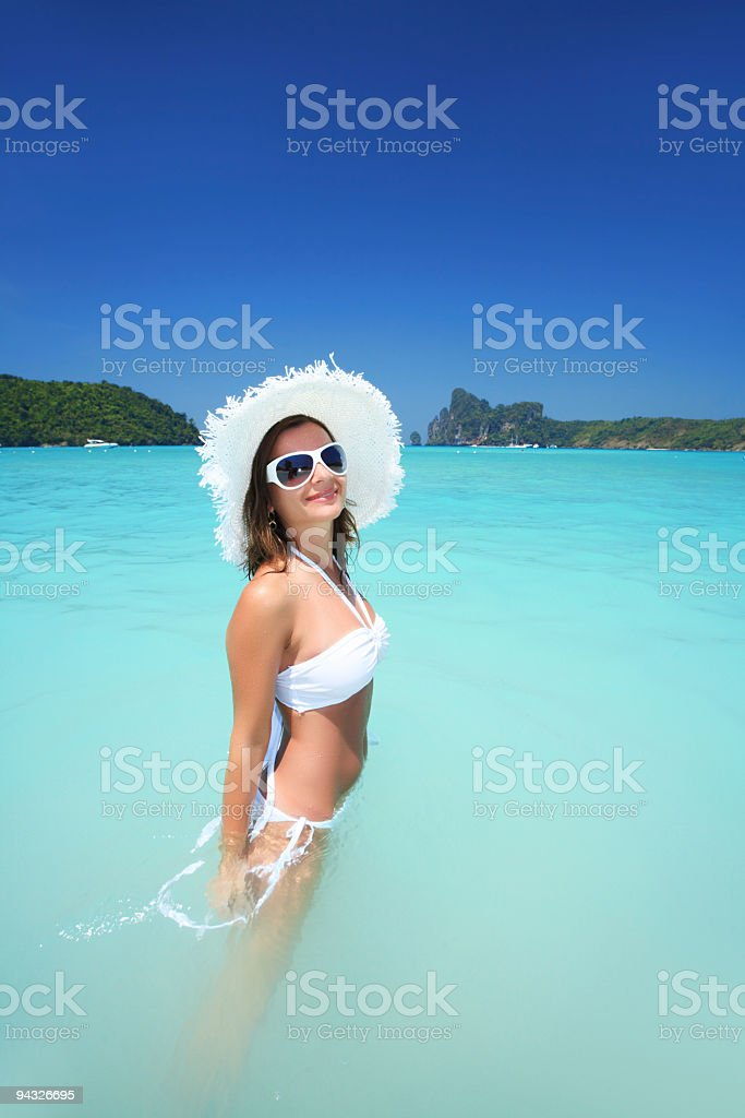 Girl on vacation. royalty-free stock photo