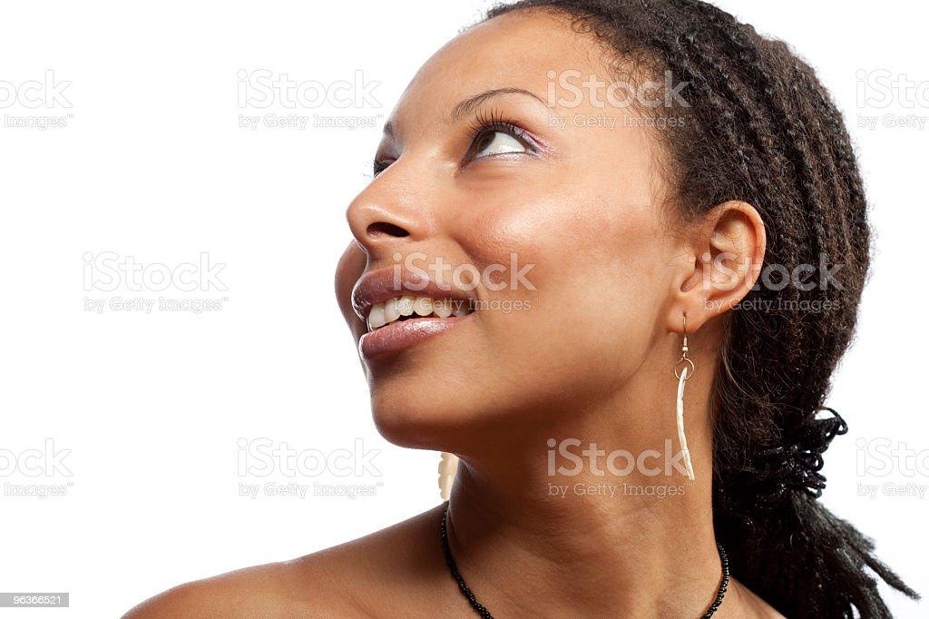 Girl on white background royalty-free stock photo