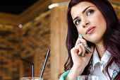 girl or business woman talking on the phone
