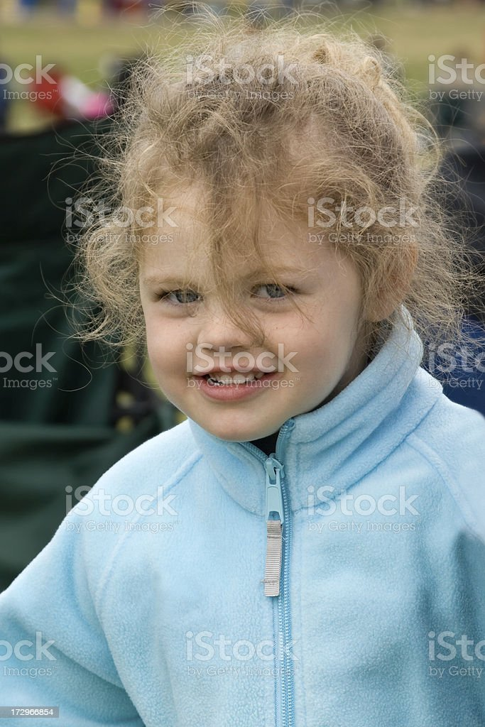 Girl outdoors royalty-free stock photo