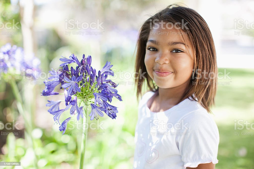 Girl outdoors, portrait royalty-free stock photo