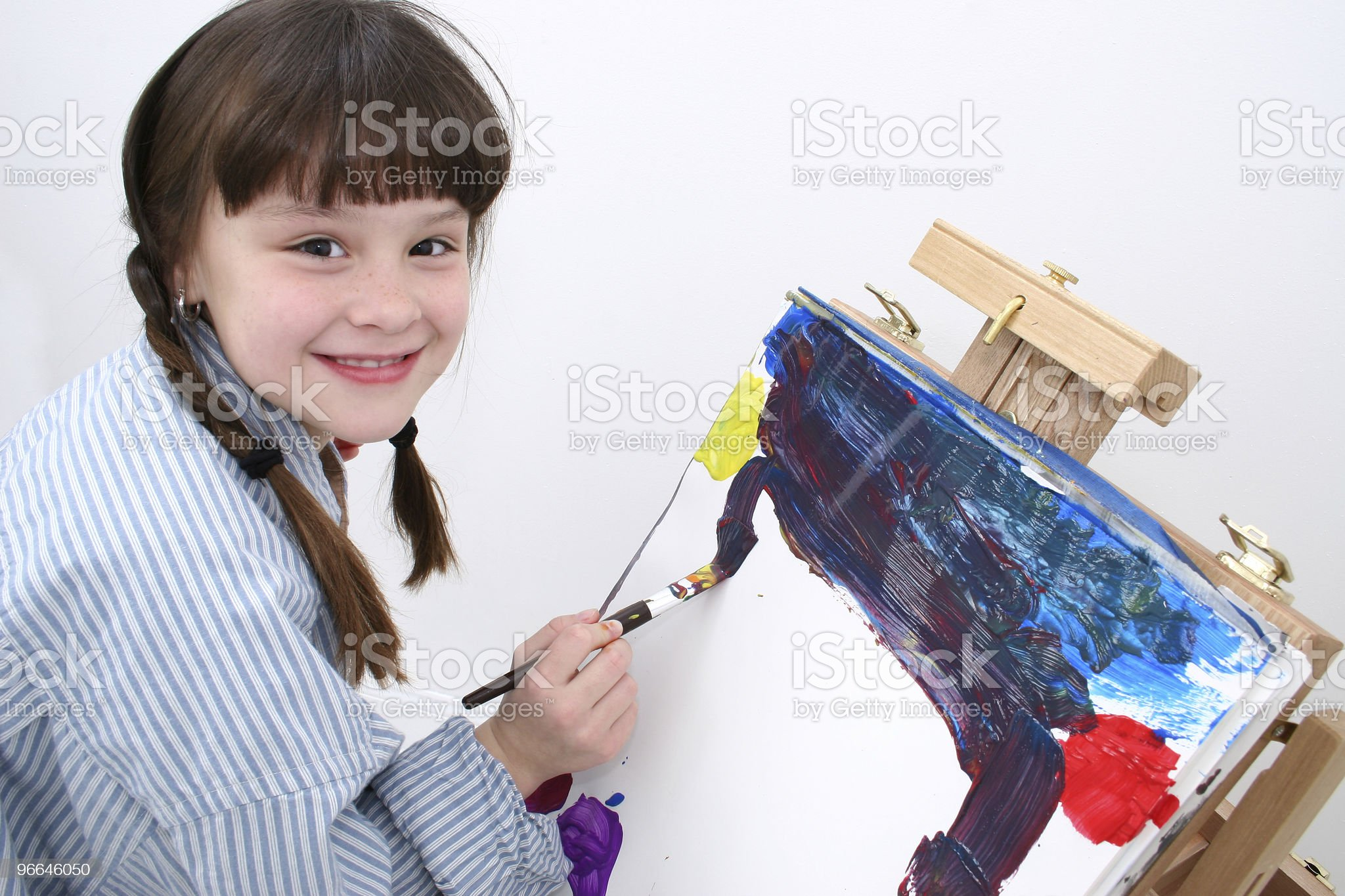 Girl Painting 02 royalty-free stock photo