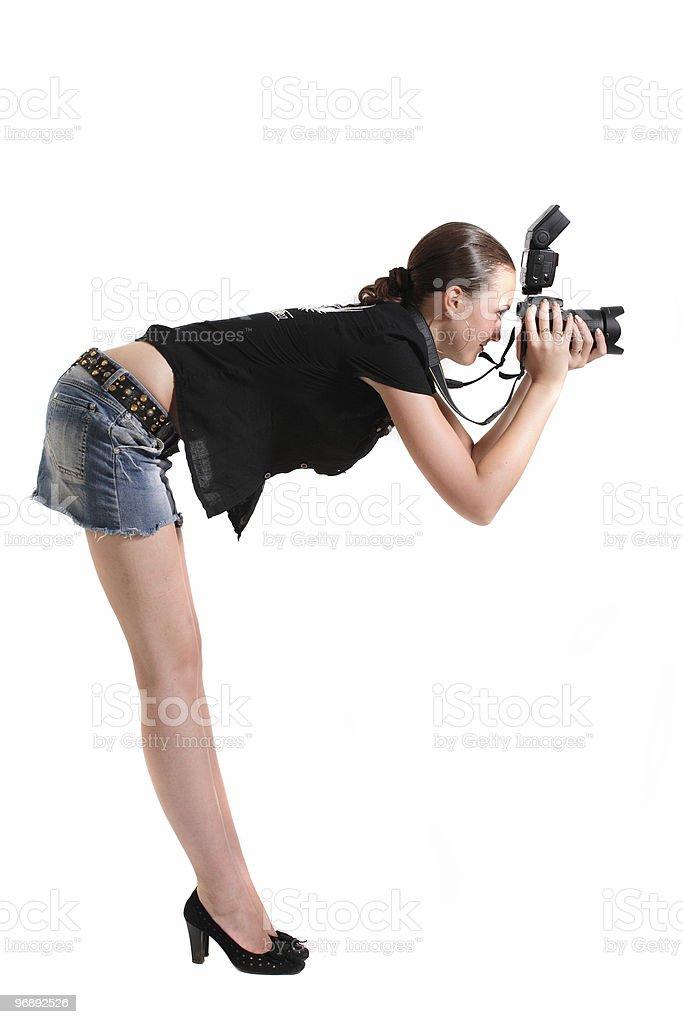 Girl photographer royalty-free stock photo