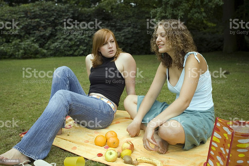 girl picknick royalty-free stock photo