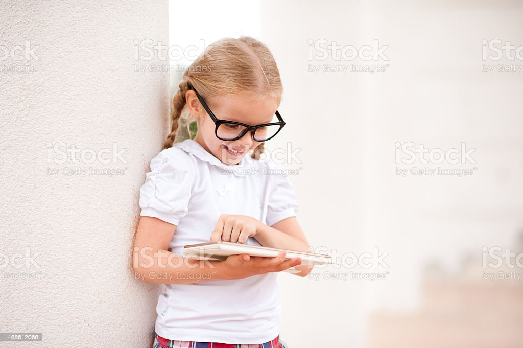 Girl playing stock photo