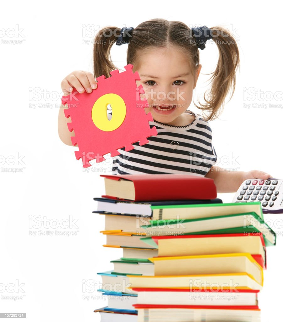 girl playing with letters royalty-free stock photo