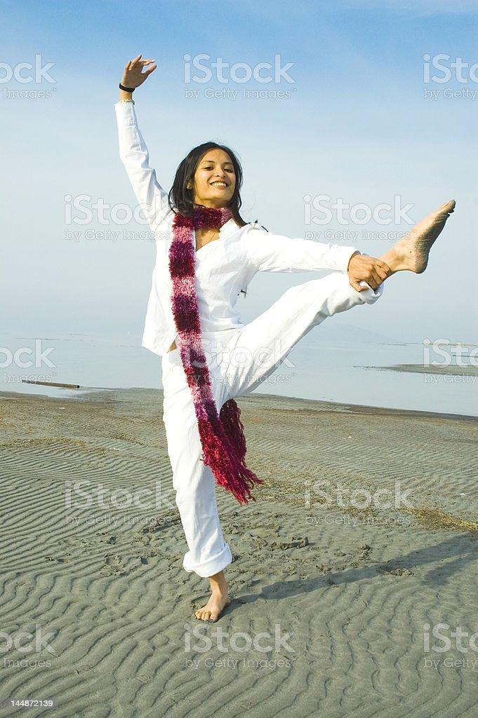 girl poses royalty-free stock photo