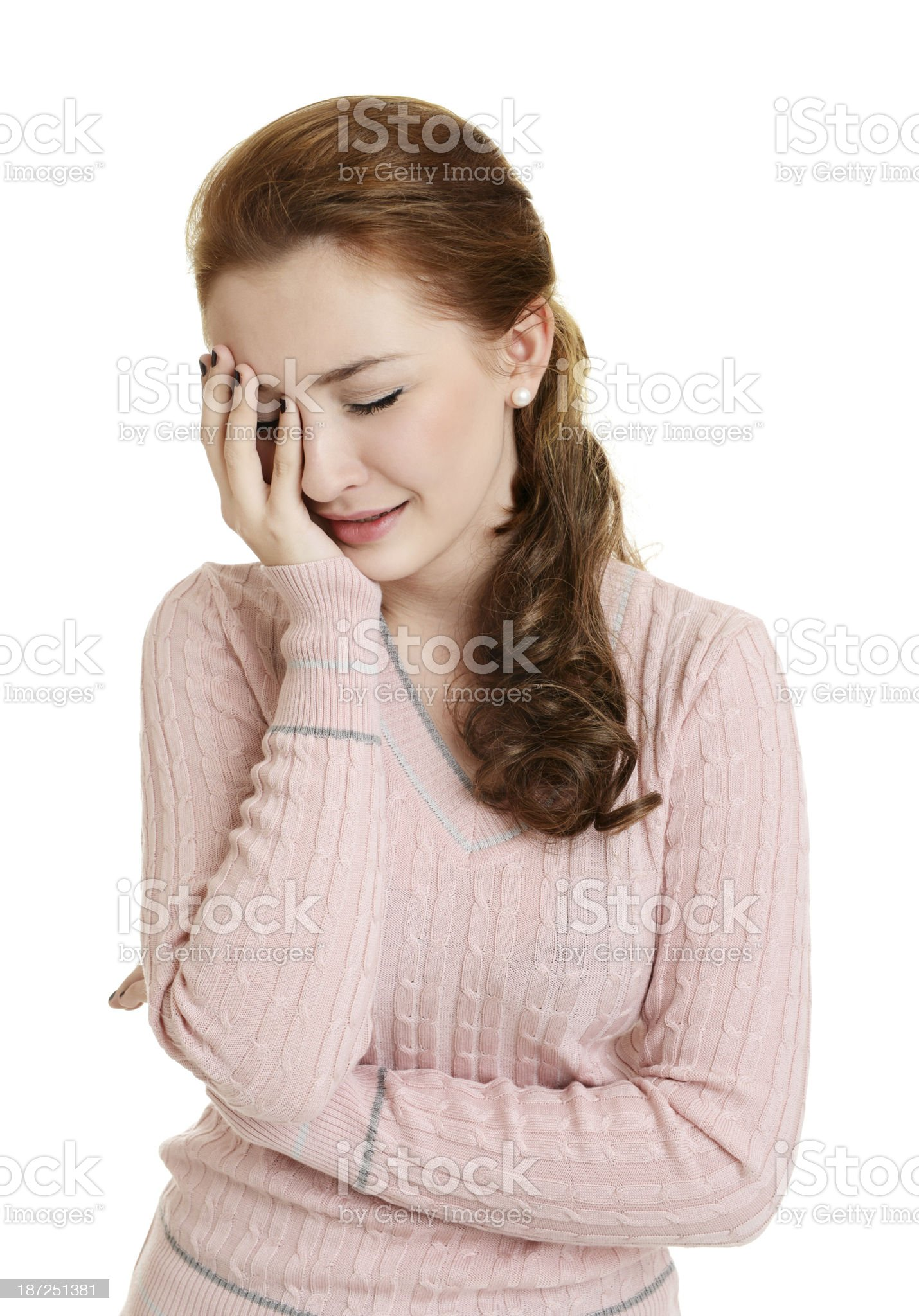 girl posing on a white background royalty-free stock photo