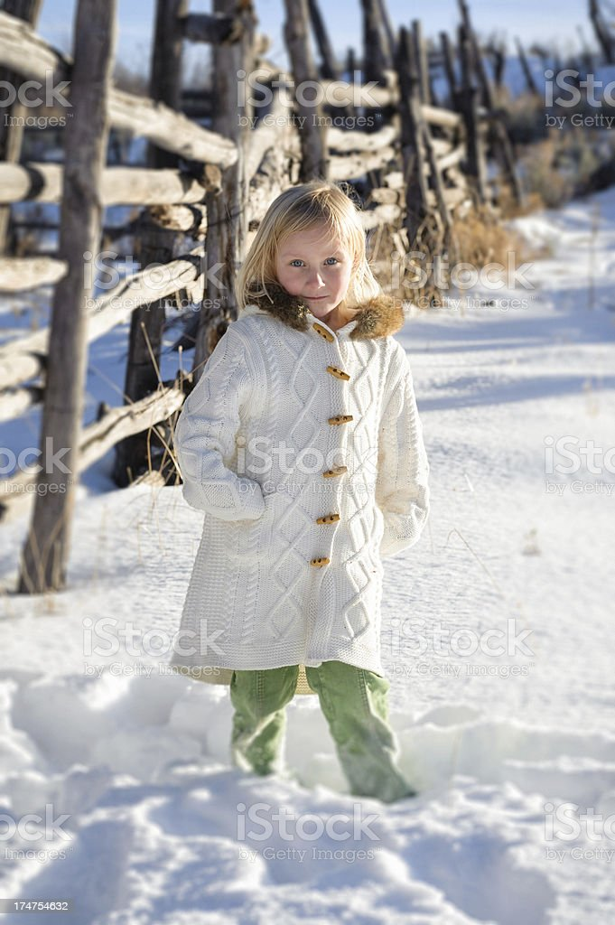 Girl Posing Outdoors in Rural Environment royalty-free stock photo
