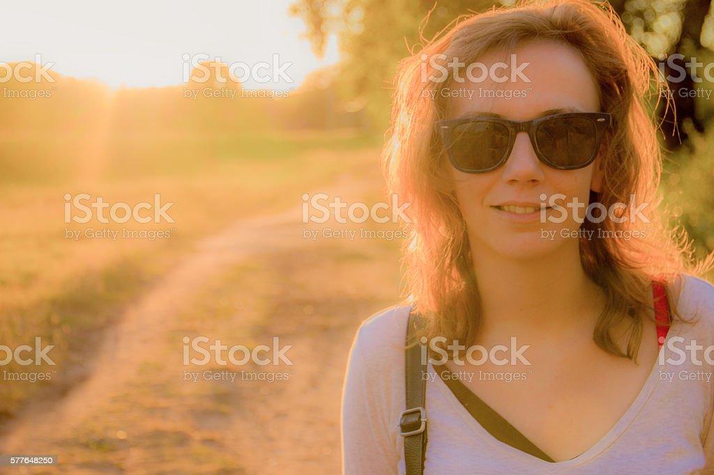 Girl posing royalty-free stock photo