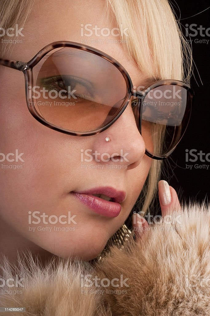 Girl posing to the camera stock photo