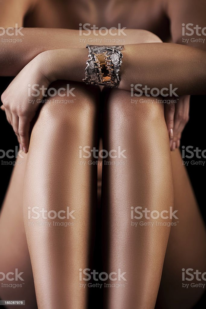 Girl posing with jewelry royalty-free stock photo