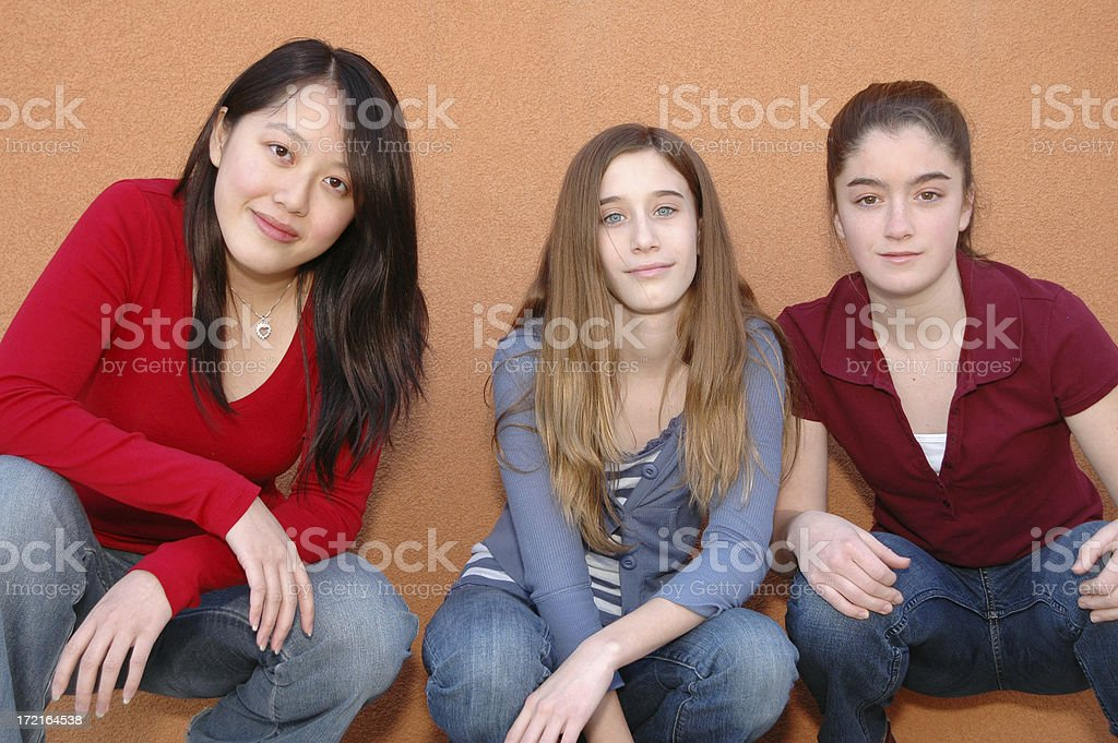 Girl power royalty-free stock photo